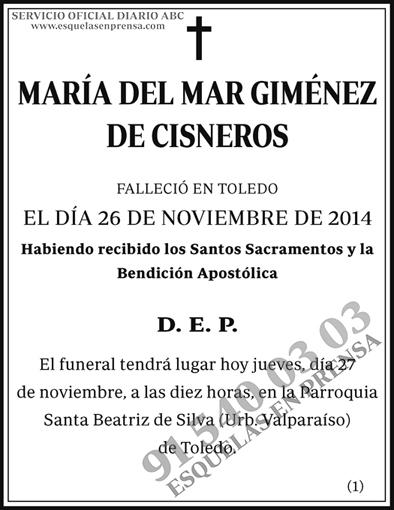 María del Mar Giménez de Cisneros